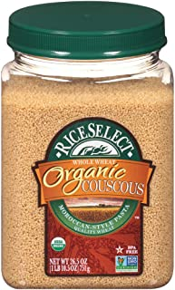 RiceSelect Organic Whole Wheat Couscous, 26.5-Ounce Jars, 4-Count
