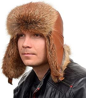 Uomini Inverno Trapper Aviatore Trooper Earflap Caldo Russo Cappello Impermeabile Pelle Di Pecora