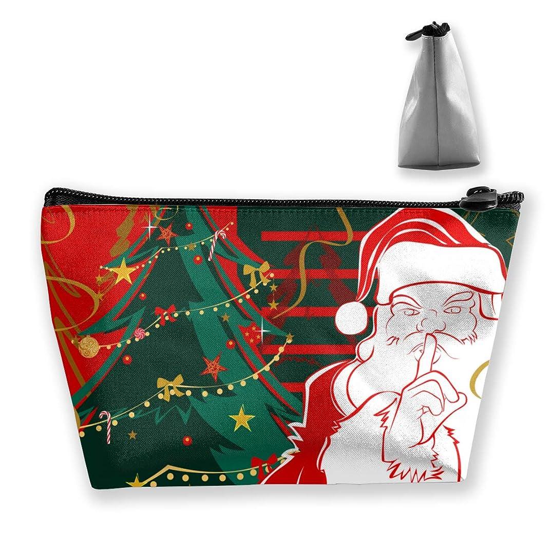 サンタは秘密です ペンケース文房具バッグ大容量ペンケース化粧品袋収納袋男の子と女の子多機能浴室シャワーバッグ旅行ポータブルストレージバッグ