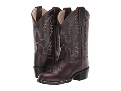 Old West Kids Boots Round Toe Western Boot (Toddler/Little Kid) (Oiled Rust) Cowboy Boots