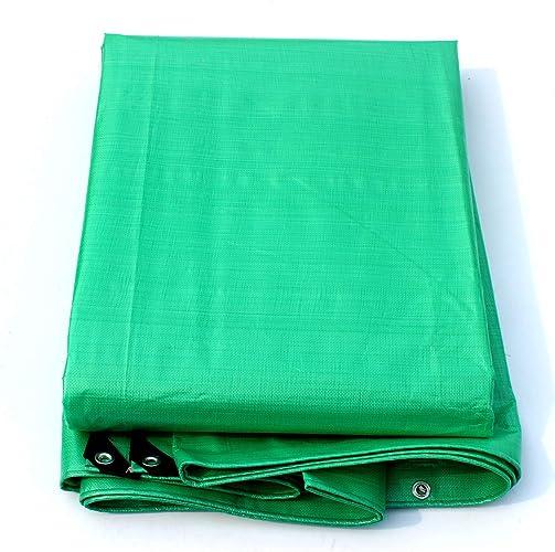 QLLYB Toile épaissie en Toile de Plastique Vert Clair Bache en Toile de Prougeection Solaire en Tissu, différentes Tailles (Taille   8m12m)