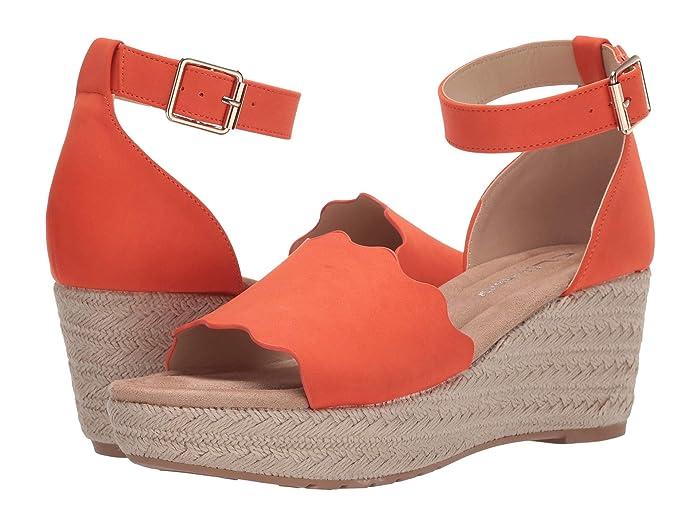 Vintage Sandals | Wedges, Espadrilles – 30s, 40s, 50s, 60s, 70s CL By Laundry Daylight Summer Orange Nubuck Womens Shoes $43.69 AT vintagedancer.com