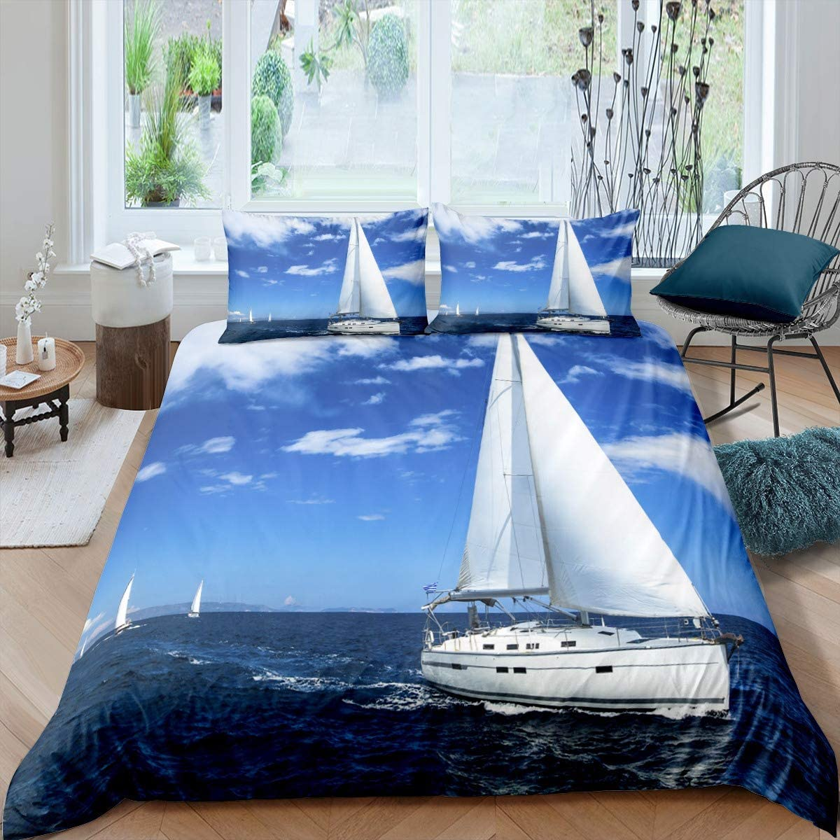 Full Size At the price of surprise Boat Duvet Cover Set Water Passenger Beddi Memphis Mall Luxury Ship