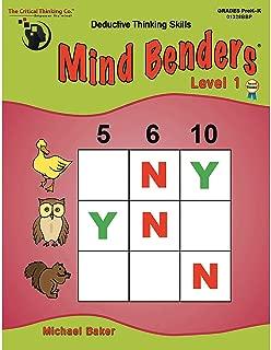 Fun Express - (2 Ea Mind Benders Level 1 gr - Educational - Teaching Aids - Language Arts - 2 Pieces