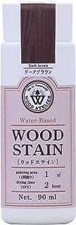 和信ペイント 水性着色剤 ウッドアトリエ ウッドステイン 90ml 800612 木目を生かした着色 WS-12 ダークブラウン