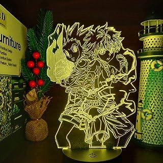 Stijlvolle 3D Nachtlampje Hunter X Hunter Gon en Killua Figuur Lamp Nachtlampje Speelgoed Anime Hunter X Hunter Beeldje Co...