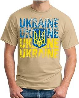 OM3 - Ukraine - T-Shirt Ukrajina Fussball World Cup Soccer Fanshirt Sport Trikot, S - 5XL