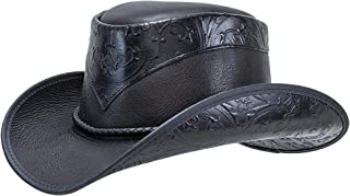 American Hat Makers Falcon Leather Cowboy Hat — Handcrafted, Durable, UV Sun Protection