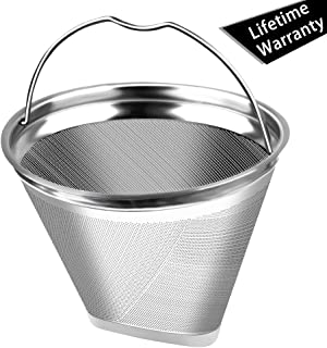 Eco-Sopure #2 Reusable Permanent Cone Coffee Filters, Perfect Fit Cuisinart DCC-450 Coffee Maker and Replace for Cuisinart GTF-4 Gold Tone Filter, Round at the Top(Not the ellipse)