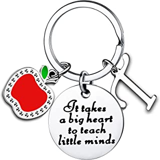Teacher Appreciation Gifts for Women Initial Thank You Gift For Teachers Keychain Teacher Gifts