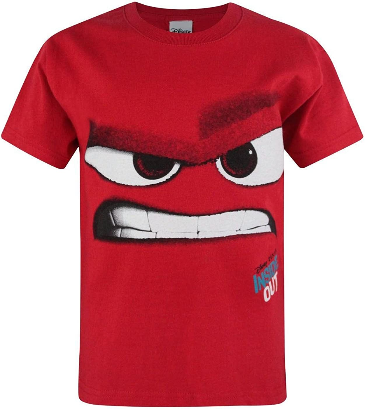 Disney Official Childrens/Kids Inside Out Anger T-Shirt (7-8 Years) (Red)