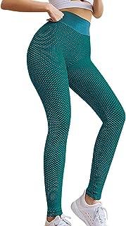 Nrpfell Leggings de Yoga Exc/éNtricos con Doble C/íRculo y Estampado para Mujer Verde M Talla