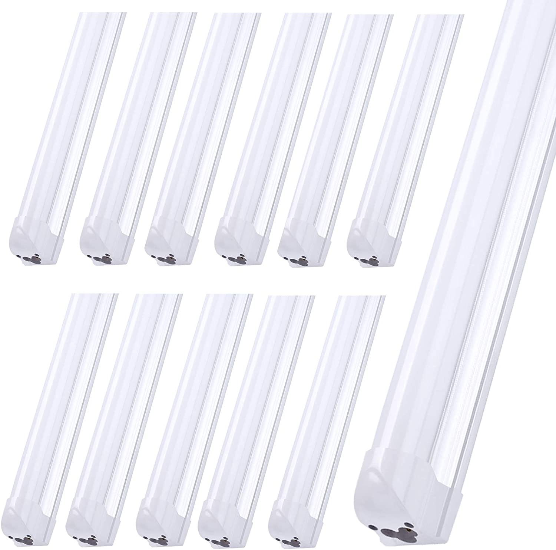 8FT LED 売れ筋ランキング Light Fixtures 72W Cool Fluorescent White 待望 6000K