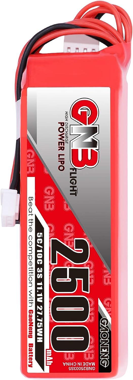 GAONENG GNB 3S 2500mAh 春の新作シューズ満載 11.1V 5C FUTABA Battery LiPo JST 新作多数 Receiver