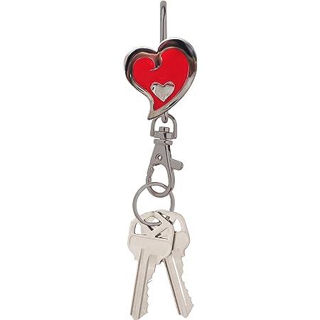 red,Silver Alexx Finders Key Purse Heart String Finders Key Purse Inc