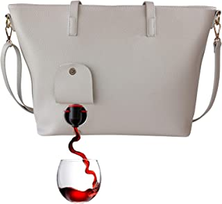 purse with hidden wine compartment