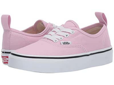 Vans Kids Authentic Elastic Lace (Little Kid/Big Kid) (Lilac Snow/True White) Girls Shoes