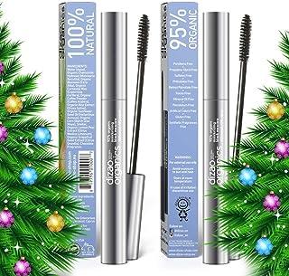 MIRACLE! 2 pcs DIZAO ORGANICS - 95% Organic 100% Natural Moisturizing Black Mascara with Organic Extract of Rice Brans and...