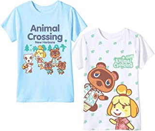 Nintendo Animal Crossing Girls Tees 2-Packs, Animal Crossing New Horizons Girls T-Shirt 2-Pack Bundle Sets