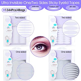 INS 1344Pcs/4Pack Ultra Invisible One/Two Side Sticky Double Eyelid Tape Stickers,..