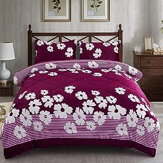 JML Fleece Blanket King Size, 3- Pieces Sherpa Blanket - Super Soft Warm, Korean Style Reversible Printed Winter Borrego Blanket