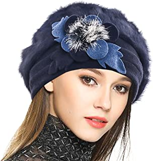 VECRY Women's 100% Wool Bucket Hat Felt Cloche Beret Dress Winter Beanie Hats