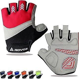 ROVOS Bike Gloves Men & Women Cycling Gloves Bicycle Gloves Bicycling Gloves Half Finger...
