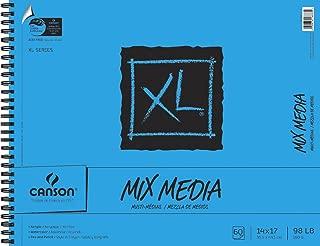 Canson XL Mix-Media Paper, 98 lb, 14 x 17 Inches, 60 Sheets - 100510930