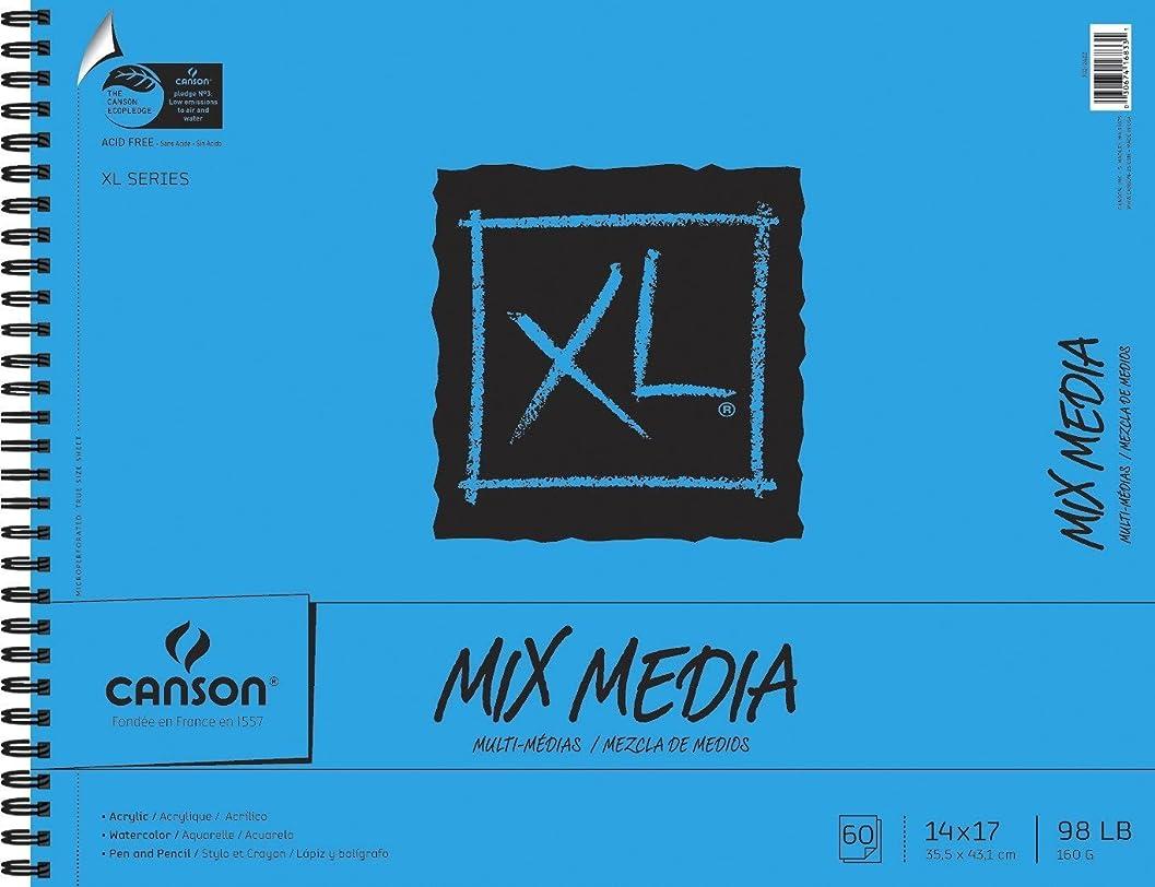 レシピ枝かなりのCanson XL Mix Media Pad- 36cm x 43cm (60 Sheets/Side Wire Bound)
