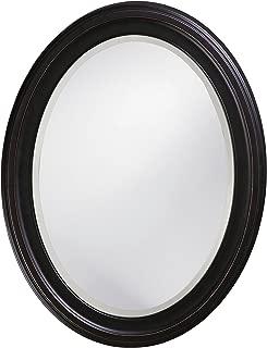 Howard Elliott George Oval Wood Framed Wall Vanity Mirror, Oil Rubbed Bronze, 40108