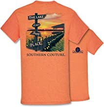 Southern Couture SC Classic The Lake is My Happy Place Classic Fit Adult T-Shirt - Sunset
