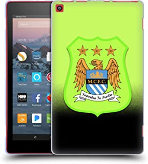 Official Manchester City Man City FC Third Kit Crest Kit Soft Gel Case Compatible for Amazon Fire HD 8 (2017)