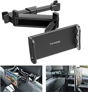 【2020年新品】タブレット ホルダー TRYONE車載ホルダー ヘッドレスト ホルダー 伸縮アームスタンド スマホ ホルダー ヘッドレスト バーの適用幅範囲12cm~15cm 後部座席用4.7-10.5インチのNintendo Switch/iPad 2/3/4/mini/air/Galaxy Tab/Google Nexusn対応(黒)