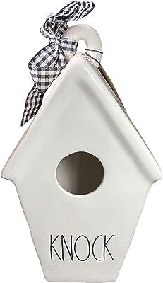 Rae Dunn by Magenta Birdhouse Ceramic LL Slant Roof Knock