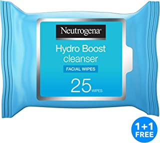 Neutrogena Makeup Remover Wipes Hydro Boost Cleansing Face 25 wipes pack of 2
