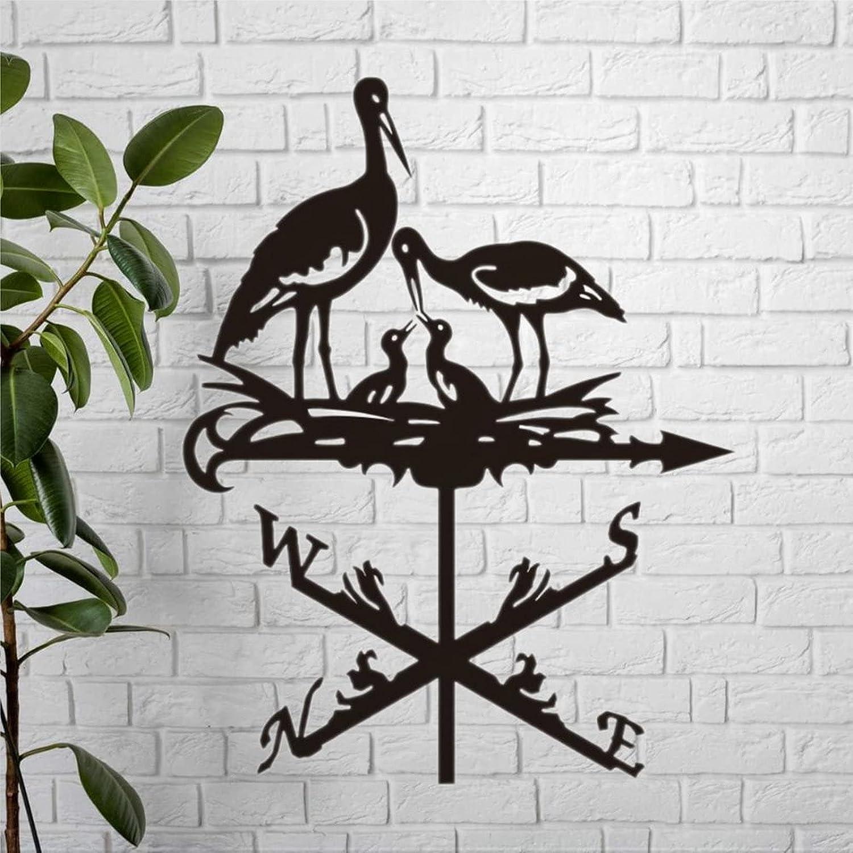 New item Stork Metal Weathervane Weathercock Storks Decor Outside M Elegant