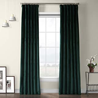 VPYC-179759-108 Heritage Plush Velvet Curtain, 50 x 108, Forestry Green