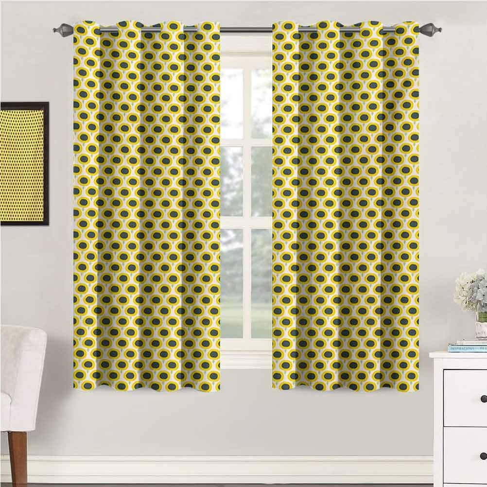 Max 86% OFF Floral Grommet Year-end gift Blackout Curtains Cute Sunflowers Doodle Nursery