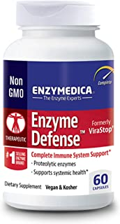 Enzymedica, Enzyme Defense, Specialized Enzyme Formula for Immune System Support, Vegan, Kosher, 60 Capsules (60 Servings)...
