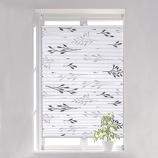 WOLTU Plisowana Roleta Klemmfix bez wiercenia, żaluzje plisowane Easyfix z uchwytem zaciskowym, żaluzje okienne z motywem ...