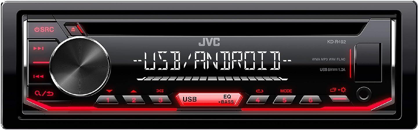 JVC KD-R491 - Receptor de CD, Color Negro