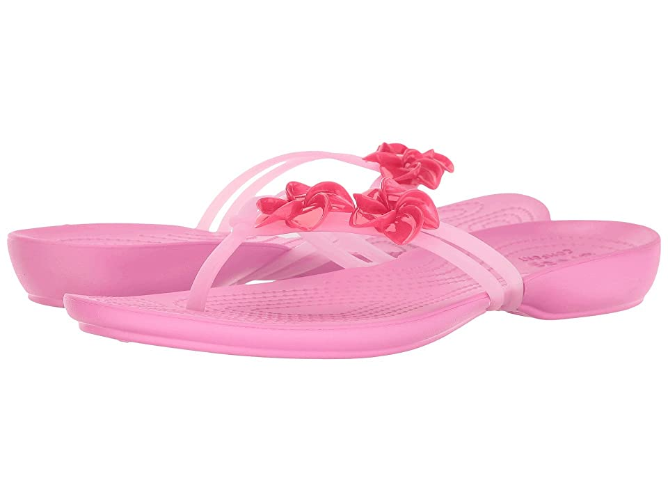 Crocs Isabella Embellished Flip (Candy Pink/Party Pink) Women