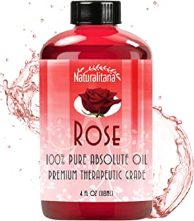 Best Rose Essential Oil (4oz Bulk Rose Oil) Aromatherapy Rose Essential Oil for Diffuser, Soap, Bath Bombs, Candles, and M...