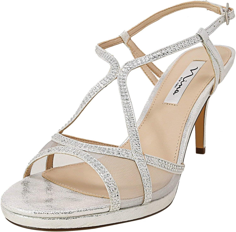 NINA Womens Blossom Open Casual Trust Sandals Toe Max 79% OFF Strappy