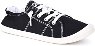 Womens Canvas Sneakers Casual Shoes Low Tops Slip Ons...