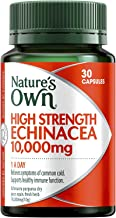 Nature's Own High Strength Echinacea 10,000mg - Relieves Cold Symptoms and Duration - Strengthens Immune System, 30 Capsules