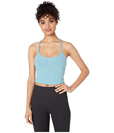Beyond Yoga Spacedye Slim Racerback Cropped Tank Top (Blue Crush/Sky Blue) Women