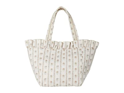 Loeffler Randall Claire Nylon Canvas Tote (Ticking Stripe Floral) Handbags