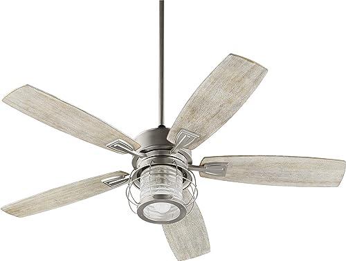 popular Quorum International Galveston Ceiling Fan discount popular - Satin Nickel - 3525-65 outlet online sale