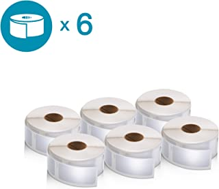 DYMO Authentic LabelWriter Multi-Purpose Labels for LabelWriter Label Printers, White, 1'' x 2-1/8'' (30336), 6 Rolls of 500